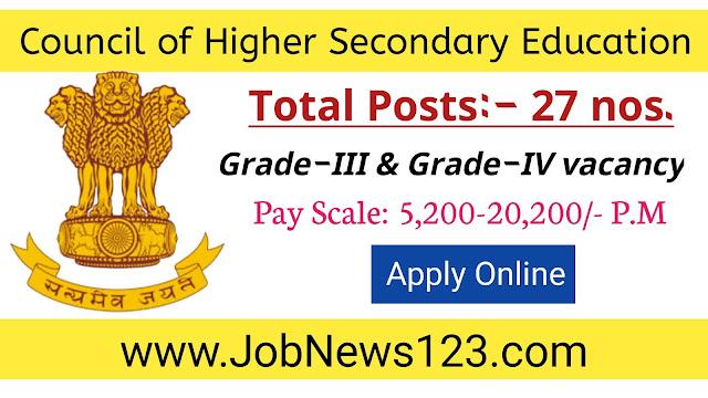 CHSE Manipur Recruitment 2021: