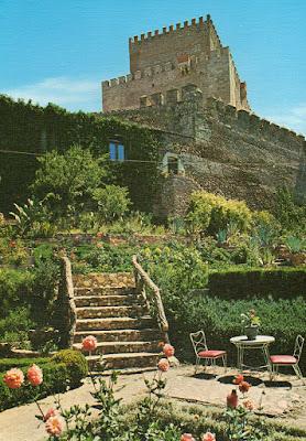 Ciudad Rodrigo, postal, parador, castillo