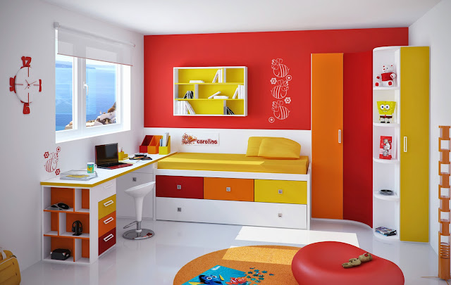 Colorful Teenagers Bedrooms 2