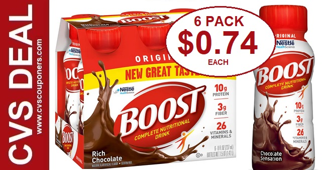 Boost Original Shakes CVS Deal $0.74 1-12-1-18