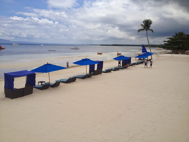 Beach at Bellevue Resort and Hotel in Panglao, Bohol, Philippines.