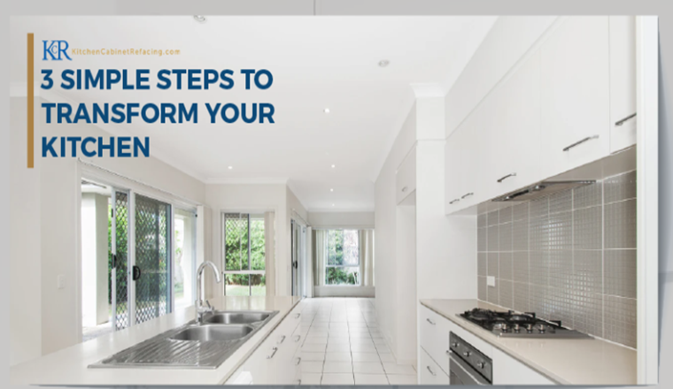 3 Simple Steps to Transform Your Kitchen Cabinets #Infographic