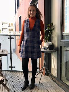 Plaid Linen Dani Dress Pinafore