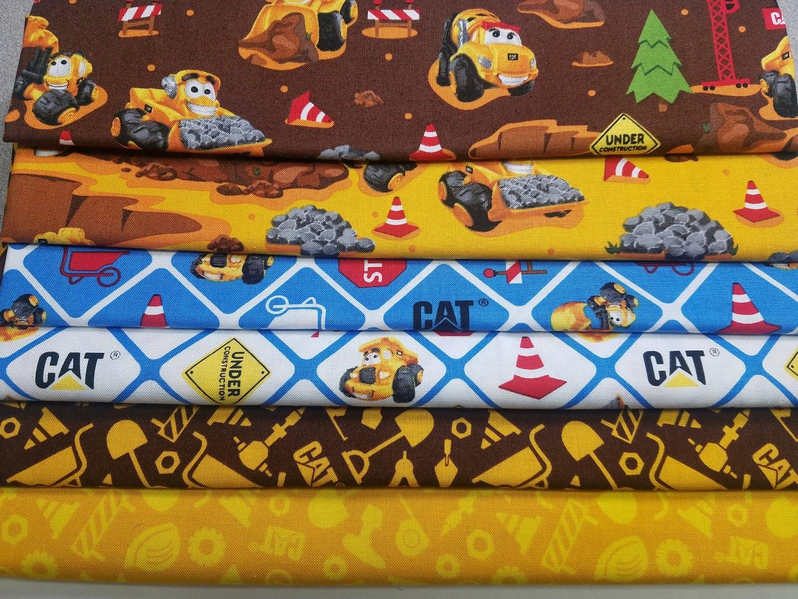Riley Blake fabrics CAT fabric bundle Haulin Stash quilt kit