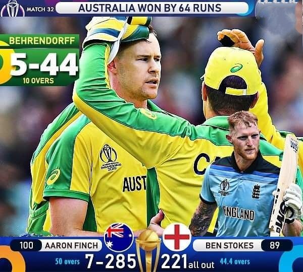 WC 2019: 9 Records created during England-Australia match, Finch leaves Gilchrist behind