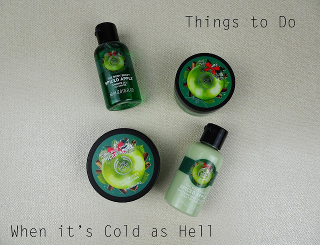 The Body Shop Spiced Apple range on white background