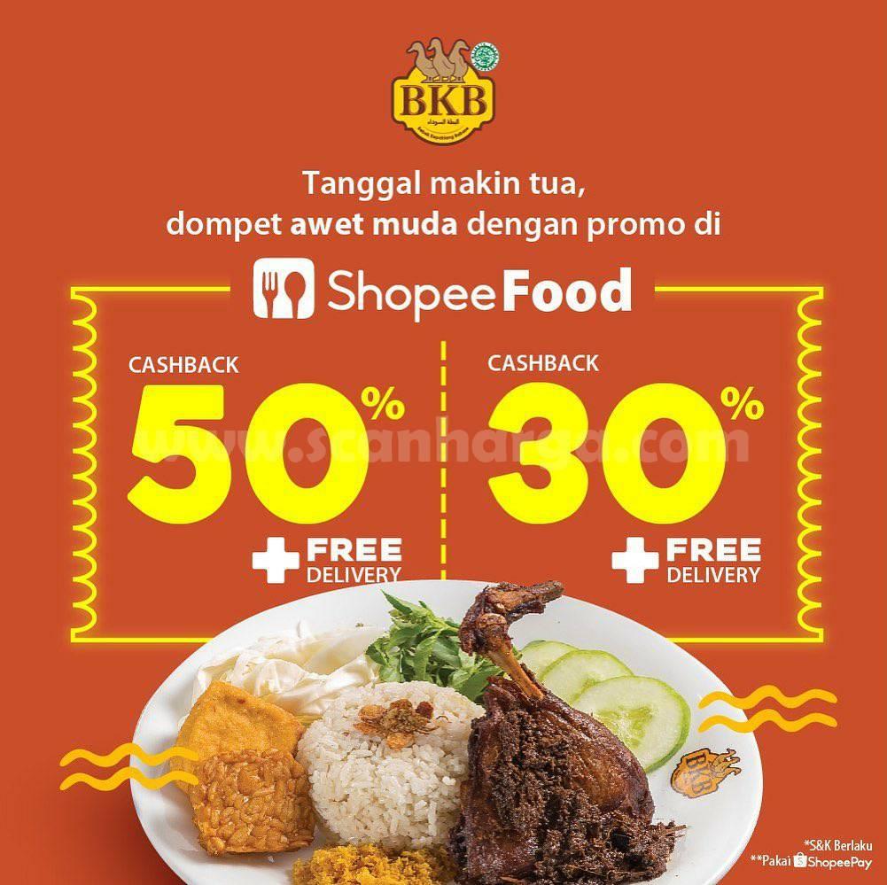 BEBEK BKB Promo Cashback 50% + Gratis Ongkir via Shopee Food