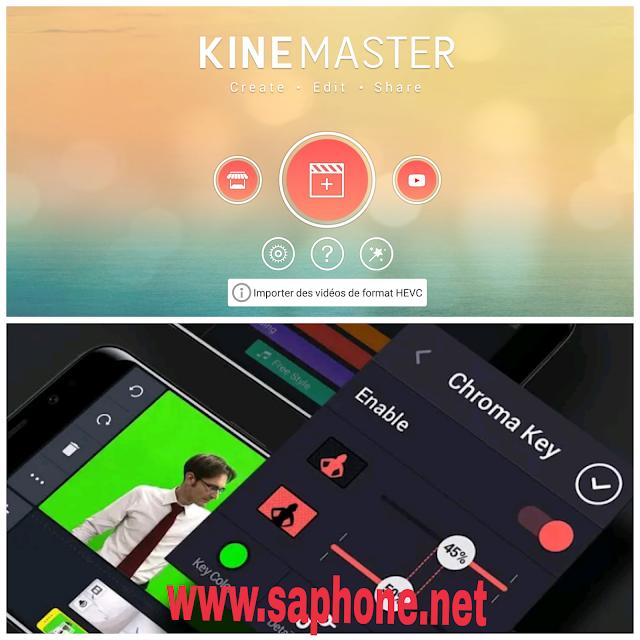 Télécharger Kinemaster  la meilleure application pour changer le fond de la video sur android