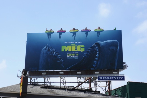 The Meg movie billboard