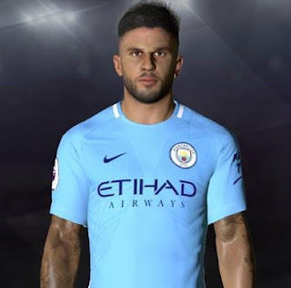 PES 2017 Faces Kyle Walker by Facemaker Ahmed El Shenawy
