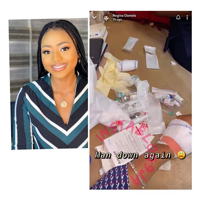 Regina Daniels rushed to the hospital for the Third Time (Photos)