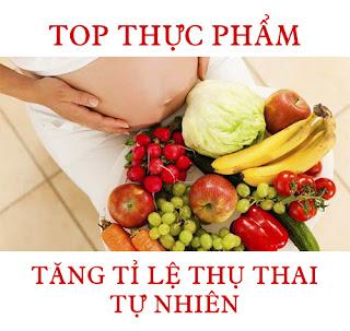 Top các thực phẩm tăng tỉ lệ mang thai tự nhiên