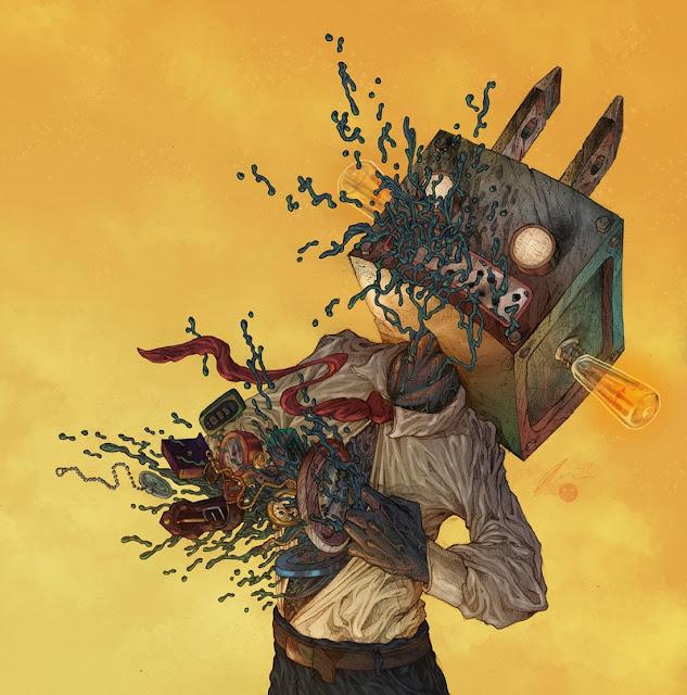 Ilustraciones-tenebrosas-surrealistas-Oleg-Kolbasov-escenas-de-pesadilla