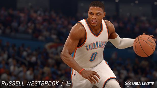 NBA Live 16 Russell Westbrook rating