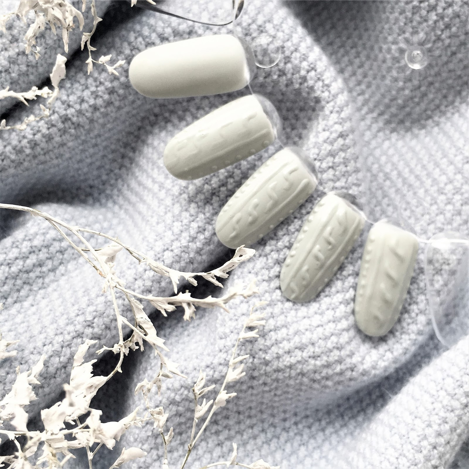 MANIWOOLLY: sweterkowe paznokcie krok po kroku