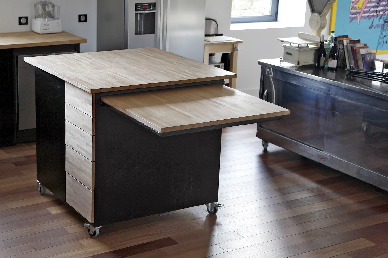 bertrand bajard cuisine desserte ilot. Black Bedroom Furniture Sets. Home Design Ideas