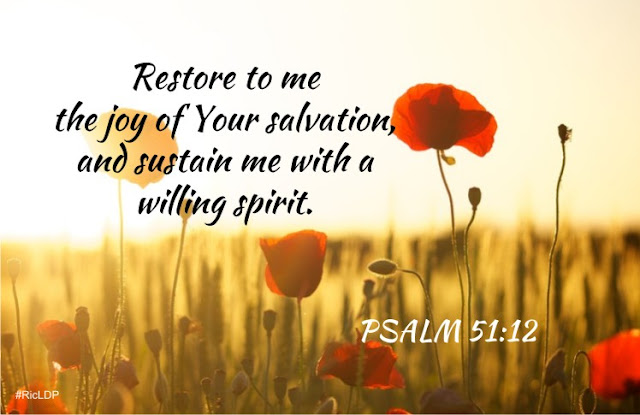 restore to me the joy of your salvation