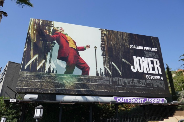 Joker movie billboard