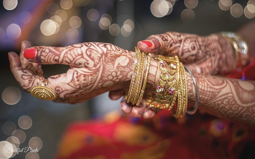 Brides Hand With Mehndi