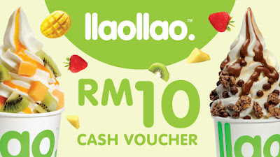 RM5 for RM10 llaollao Cash Voucher