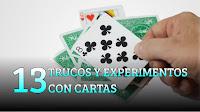 13 Trucos y experimentos caseros con cartas, MAGIA-CIENCIA