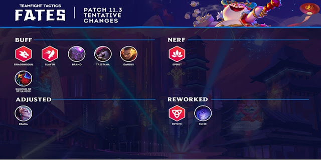Teamfight tactics patch notes 11.3