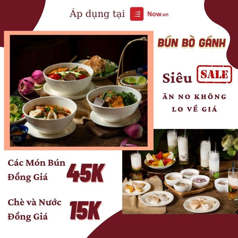 Ghé Bún Bò Gánh Săn Hot Deal Món Ăn Đồng Giá Tại Now Ngay Hôm Nay
