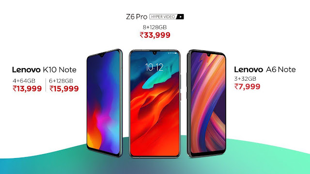 Lenovo Z6 Pro and A6 Note now available on Flipkart