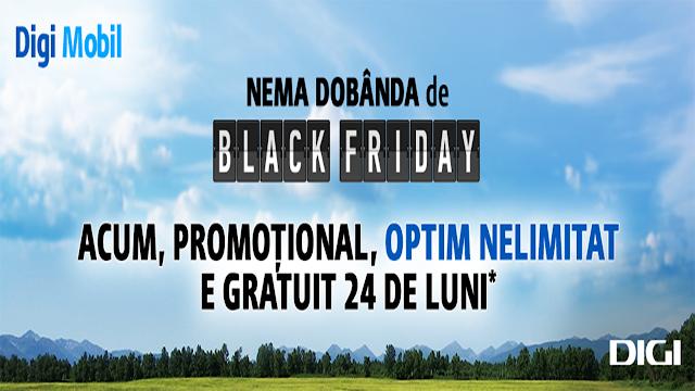 Nema dobânda de Black Friday la Digi Mobil: până la 10 luni cu 50% reducere la abonament