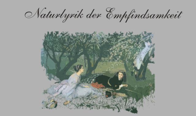 Zwei Frauen im Garten- Empfindsamkeit