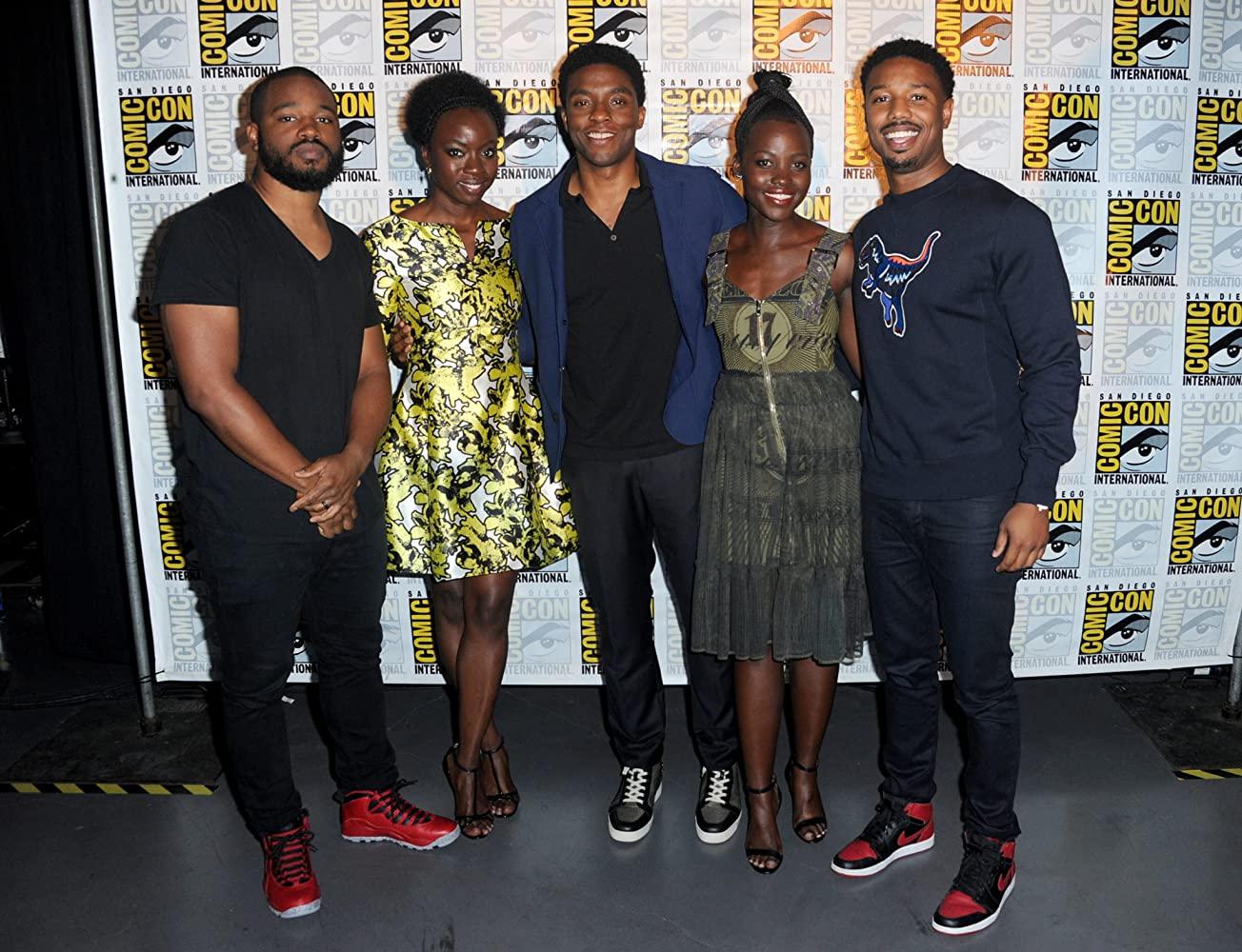 Michael B. Jordan, Chadwick Boseman, Danai Gurira, Lupita Nyong'o, and Ryan Coogler