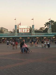 Summer of Heroes Entrance Sign Disney California Adventure