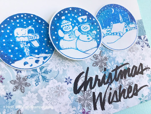 Snowball Glittered Christmas Card