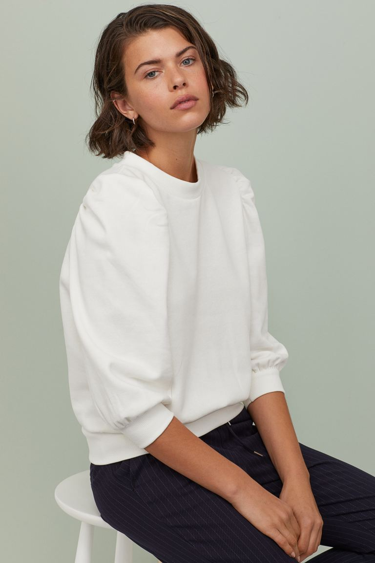 H&M Puff Sleeved Sweatshirt