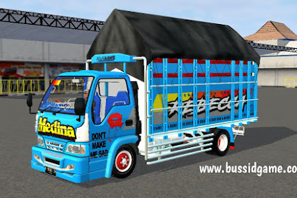 Mod Truck Isuzu Elf NKR71 Livery Medina By RMC Creation