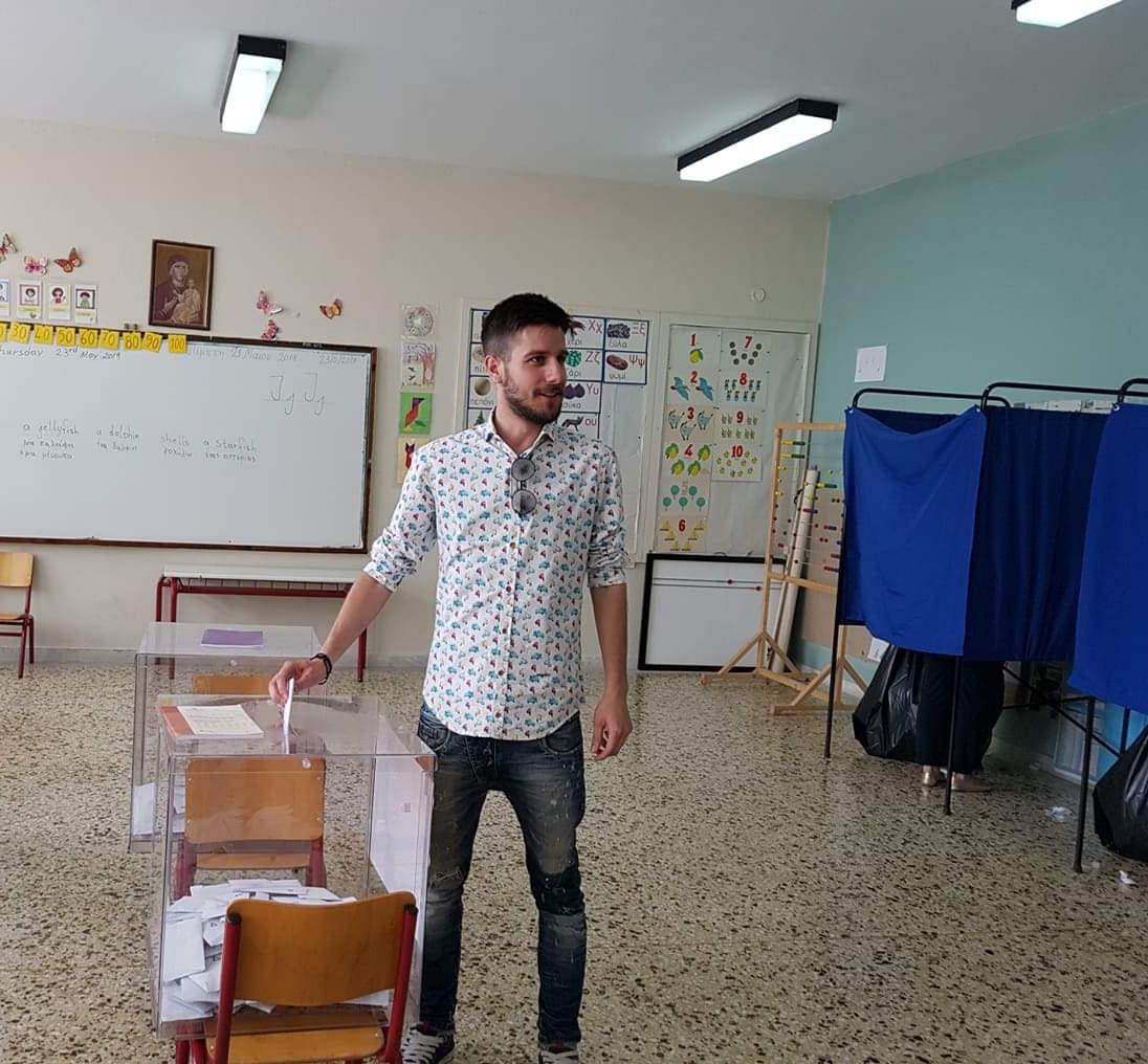 Ψήφισε και ο Νίκος Γαμβρουλας
