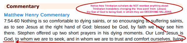 Acts 7:59, Yet Again Another One of Many TRINITARIAN FORGERIES.