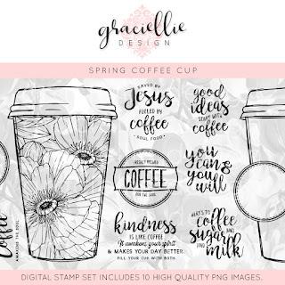 "Graciellie Design ""Spring Coffee Cup Mega Bundle"""