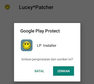 izinkan pemasangan lucky patcher