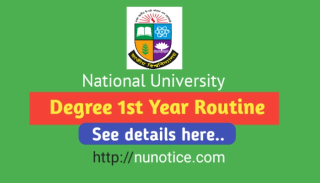 degree 1st year routine