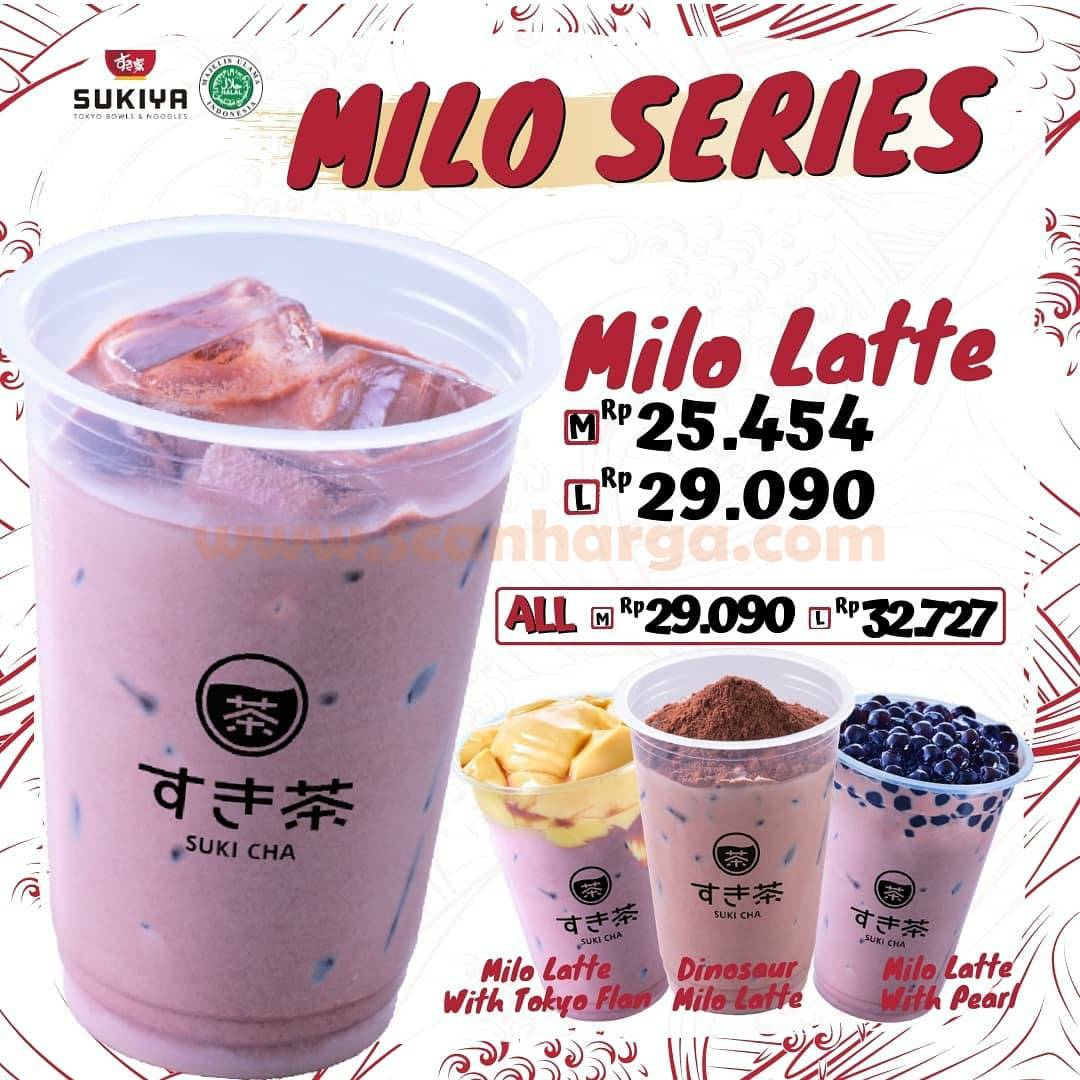 SUKIYA Millo Latte Series Harga Mulai Dari Rp 25.454