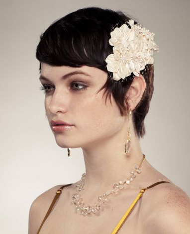 Wedding Hair Flowers For Short Hairstyles