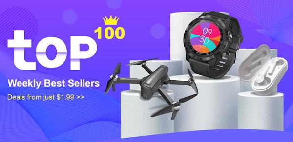 Tomtop dá o Top 100 das melhores vendas semanalmente