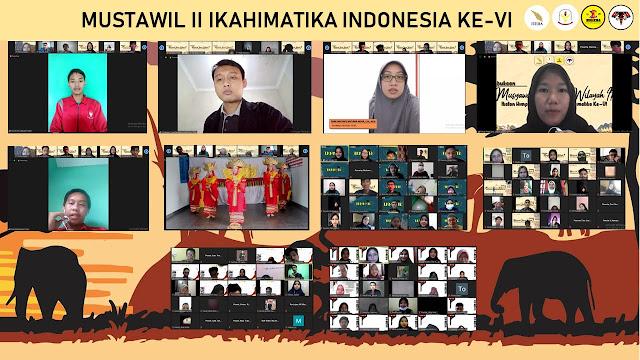 HIMATIKA ITERA Sukses Menjadi Tuan Rumah Musyawarah Tahunan Wilayah II IKAHIMATIKA Indonesia ke-VI Secara Daring