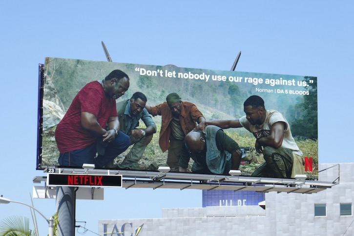Da 5 Bloods Netflix Black Lives Matter billboard