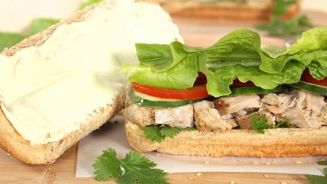 Sesame Tuna with Wasabi Mayo Sandwich
