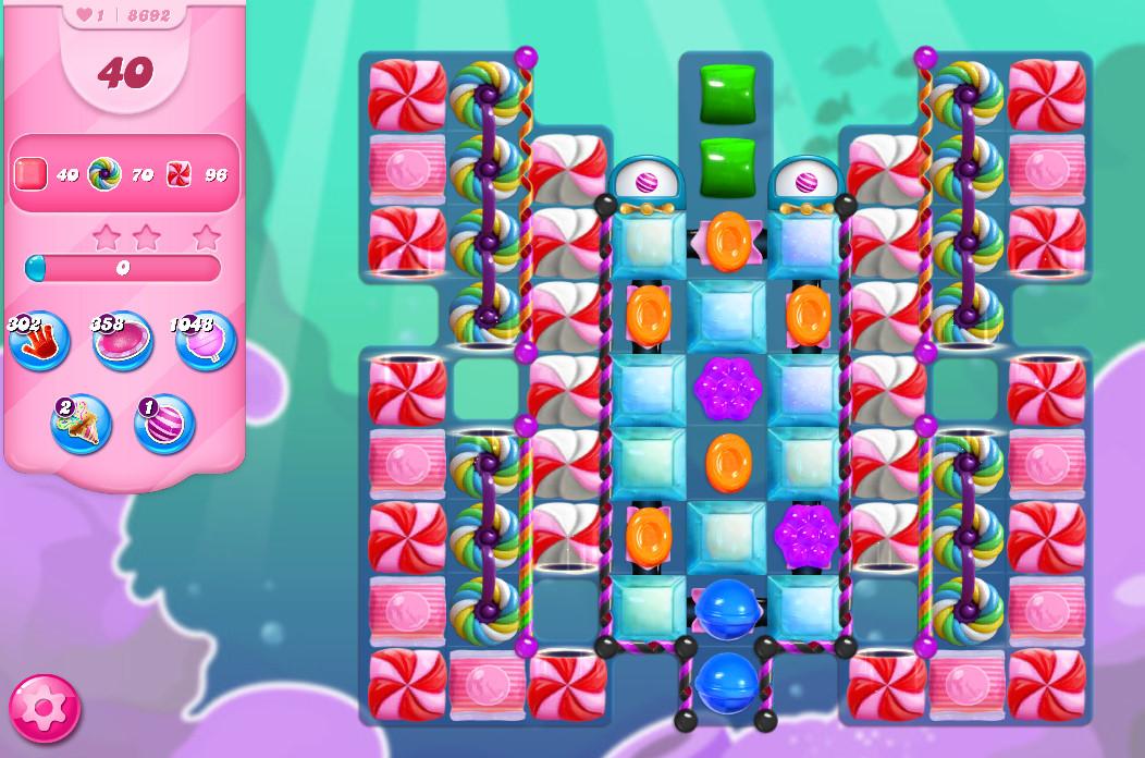 Candy Crush Saga level 8692