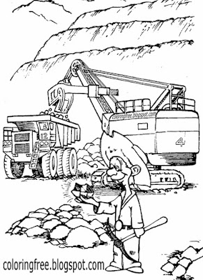 Outback Australian cartoon gold mining printable Australia colouring for kids clipart easy to colour