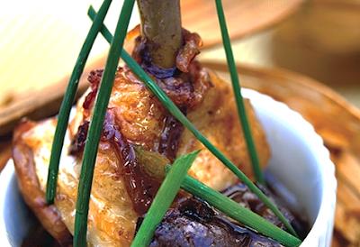 Receta de cocina de Alitas de pollo  con ciruelas