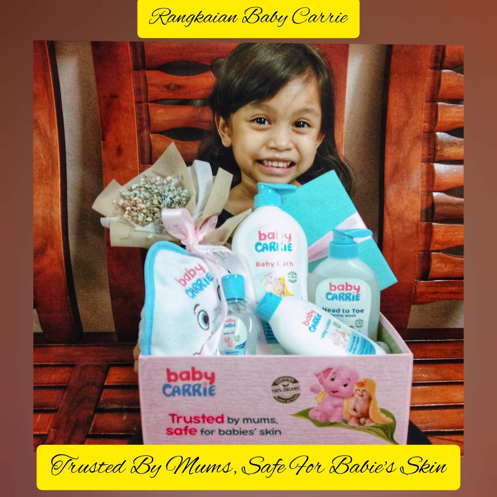 Baby Carrie, set mandian bayi organik, mandian bayi organik, mandian bayi tak pedihkan mata